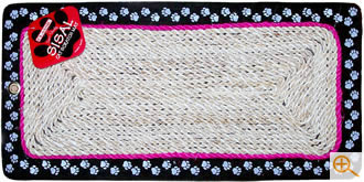 Sisal cat scratching mat, with eyelet for vertical fixing