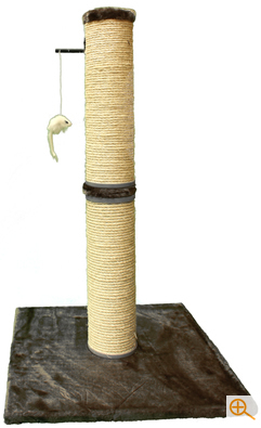 Extra Large sisal covered scratching post with toy mouse, ideal for larger or older cats